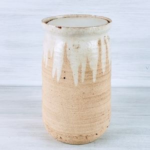 Vintage Ceramic Pottery Canister with Lid